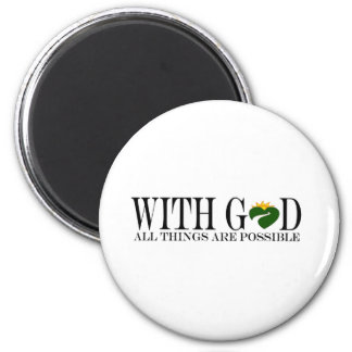 With GOD (Gift-Items) 2 Inch Round Magnet