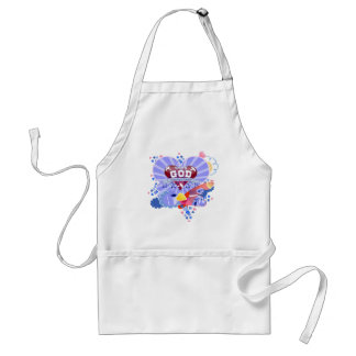 With God Hearts Adult Apron