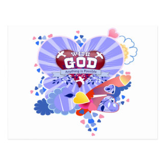 With God Hearts Postcard