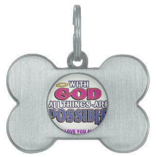 With God Pet ID Tag