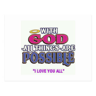 With God Postcard