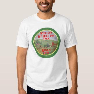 With God, We Built Our Farm Romney Ryan T-shirt