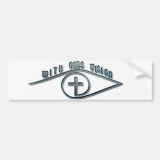With GODS Vision Bumper Sticker