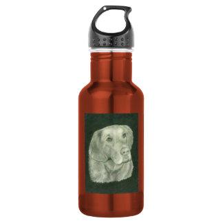 with Golden Retriever 18oz Water Bottle