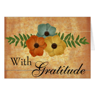 With Gratitude-1  add your own text Greeting Card