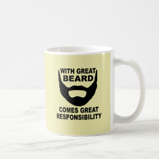 With Great Beard Comes Great Responsibility Classic White Coffee Mug