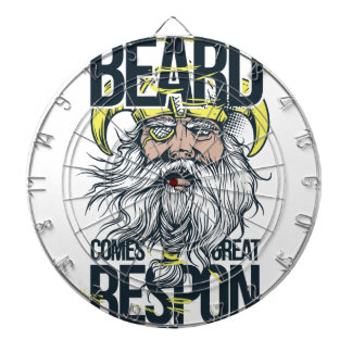with great beard comes great responsibility dartboard