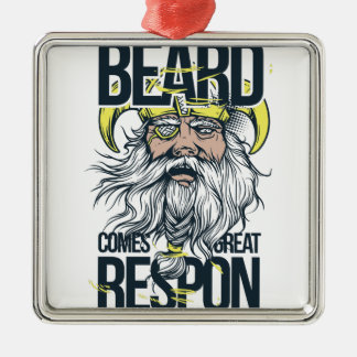 with great beard comes great responsibility metal ornament