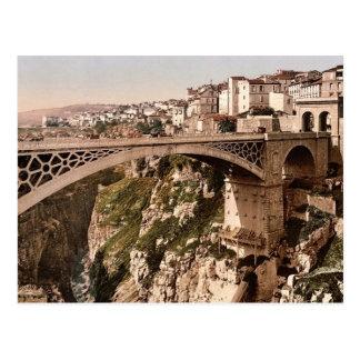 With great bridge, Constantine, Algeria classic Ph Postcard