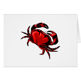 WITH GREAT CLAWS GREETING CARD