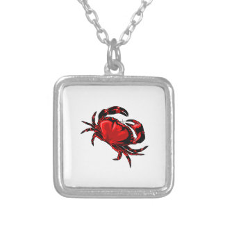 WITH GREAT CLAWS SQUARE PENDANT NECKLACE