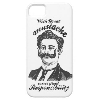 With great mustache, comes great responsibility iPhone 5 covers