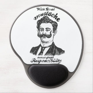 With great mustache , comes great responsibility. gel mouse pad