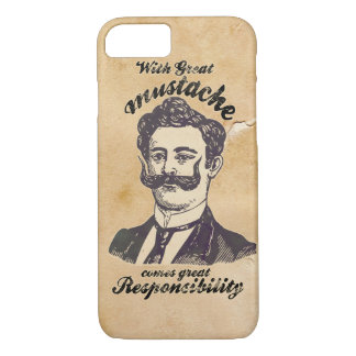 With great mustache comes great responsibility. iPhone 7 case