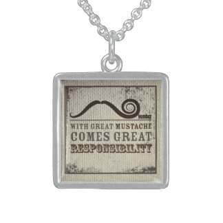 With Great Mustache Comes Great Responsibility Nec Necklaces
