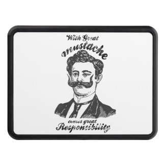 With great mustache comes great responsibility hitch cover