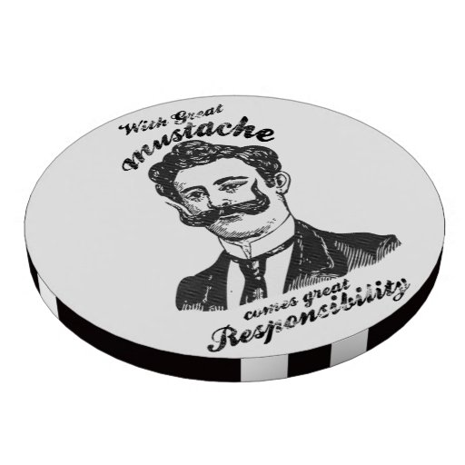 With great mustache comes great responsibility. poker chips