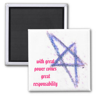With great power 2 inch square magnet