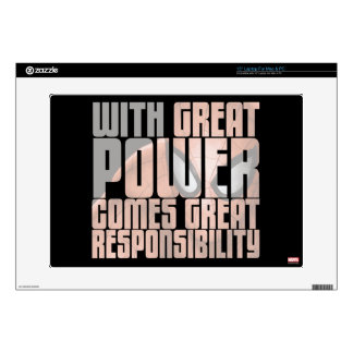 With Great Power Comes Great Responsibility Laptop Decals