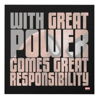 With Great Power Comes Great Responsibility Panel Wall Art