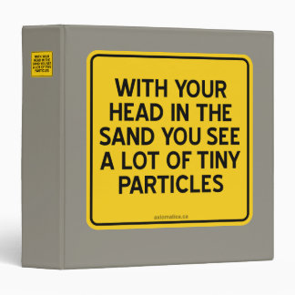 WITH HEAD IN SAND YOU SEE A LOT OF TINY PARTICLES BINDER