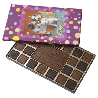 With Hearty Good Wishes by Carl Reichert 45 Piece Box Of Chocolates