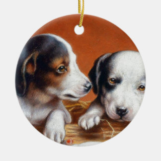 With Hearty Good Wishes by Carl Reichert Ceramic Ornament