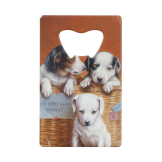 With Hearty Good Wishes by Carl Reichert Credit Card Bottle Opener