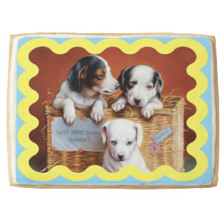 With Hearty Good Wishes by Carl Reichert Jumbo Shortbread Cookie