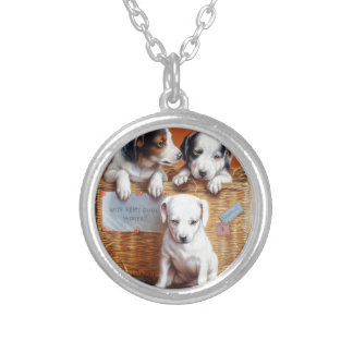 With Hearty Good Wishes by Carl Reichert Silver Plated Necklace