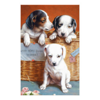 With Hearty Good Wishes by Carl Reichert Stationery