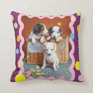 With Hearty Good Wishes by Carl Reichert Throw Pillow