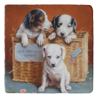 With Hearty Good Wishes by Carl Reichert Trivet