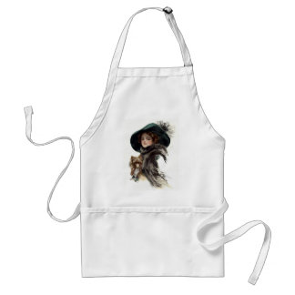 With Her Dog Adult Apron