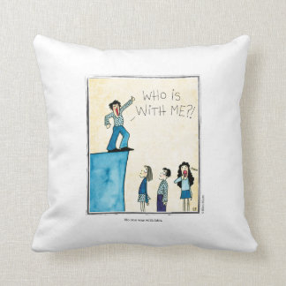WITH HIM cartoon by Ellen Elliott Throw Pillow