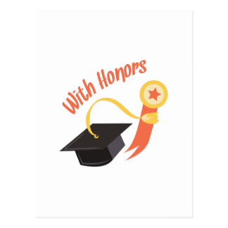 With Honors Postcard