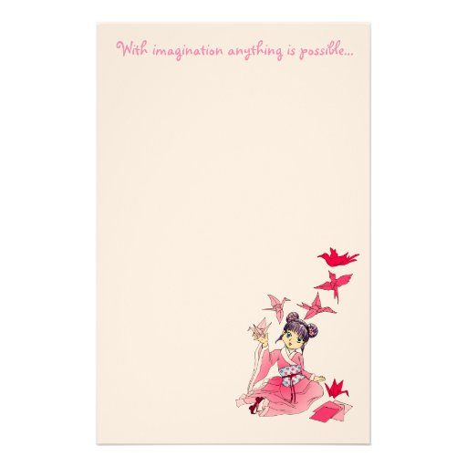 With imagination anything is possi... personalized stationery