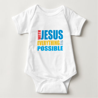 With Jesus Everything is Possible Baby Bodysuit