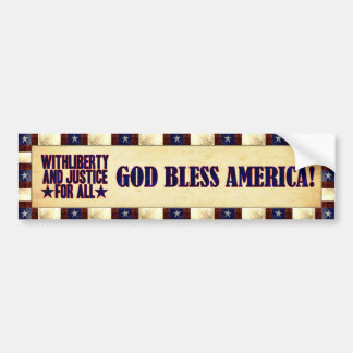 With Liberty and Justice for All Car Bumper Sticker