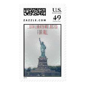 ...with Liberty and Justice for All Stamp