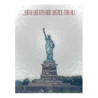 ...with Liberty and Justice for All Postcard