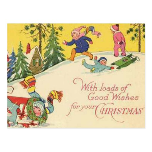 With Loads of Good Wishes For Your Christmas Postcard