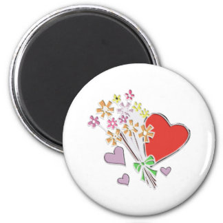 With Love 2 Inch Round Magnet