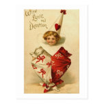 With Love and Devotion Valentine Clown Postcards