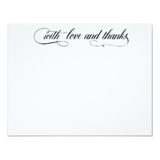 With love and thanks 4.25x5.5 paper invitation card