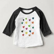 WITH_LOVE: Colorfull heart pattern Baby T-Shirt