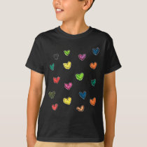 WITH_LOVE: Colorfull heart pattern T-Shirt