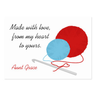 With Love Crochet Hang Tag Business Card Templates