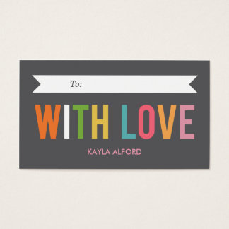 With Love Custom Gift Tags