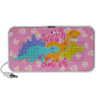 With Love Dinosaurs Mp3 Speakers